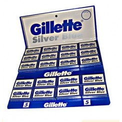 پکیج 100 عددی تیغ اصلاح سیلور بلو ژیلت Gillette Silver Blue 100 Blades in 20 Packets